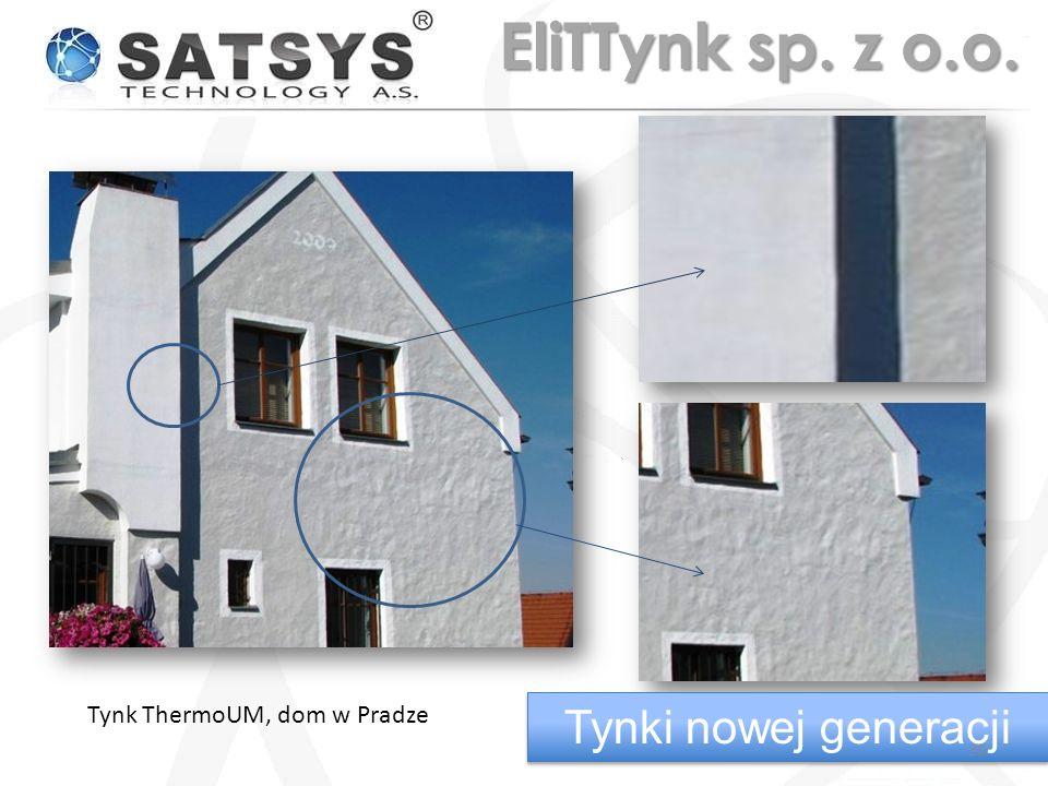 Tynk ThermoUM, dom w Pradze Tynki nowej generacji 30 EliTTynk sp. z o.o.