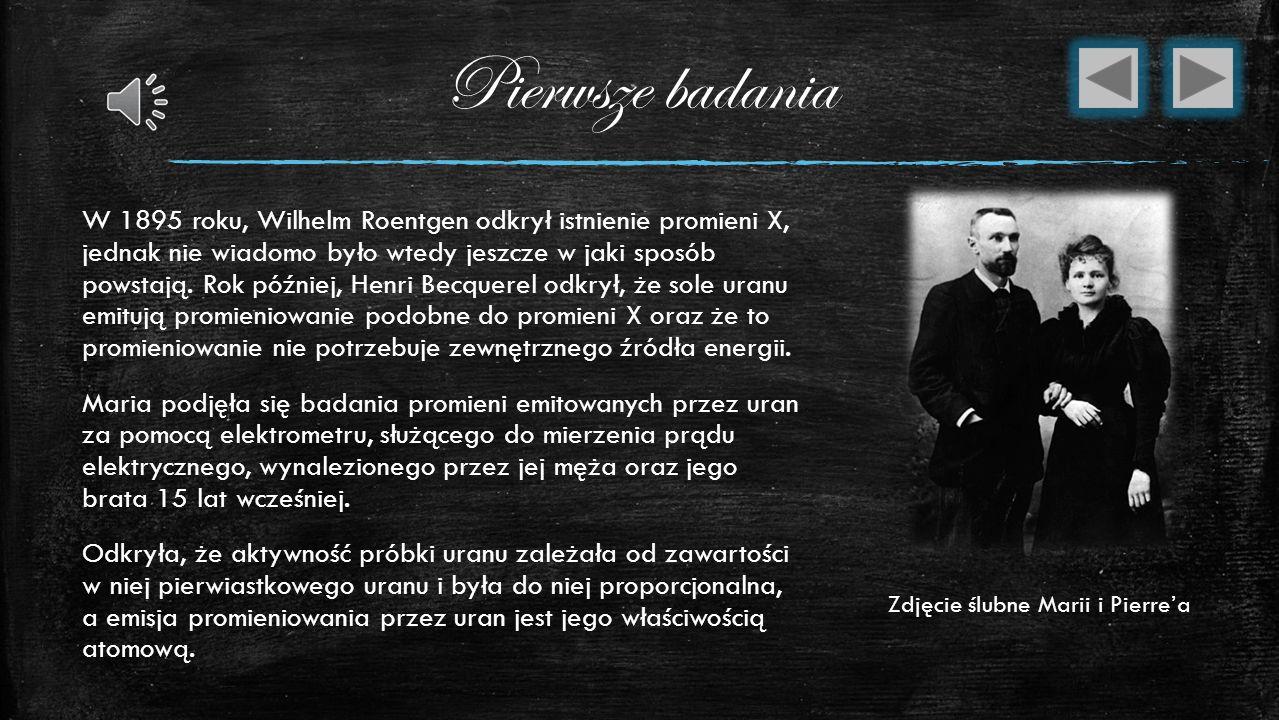 Maria Curie W 1894 roku, Maria powróciła do Polski i odwiedziła swoją rodzinę w Warszawie. Ubiegała się o pracę w swoim zawodzie na Uniwersytecie Jagi