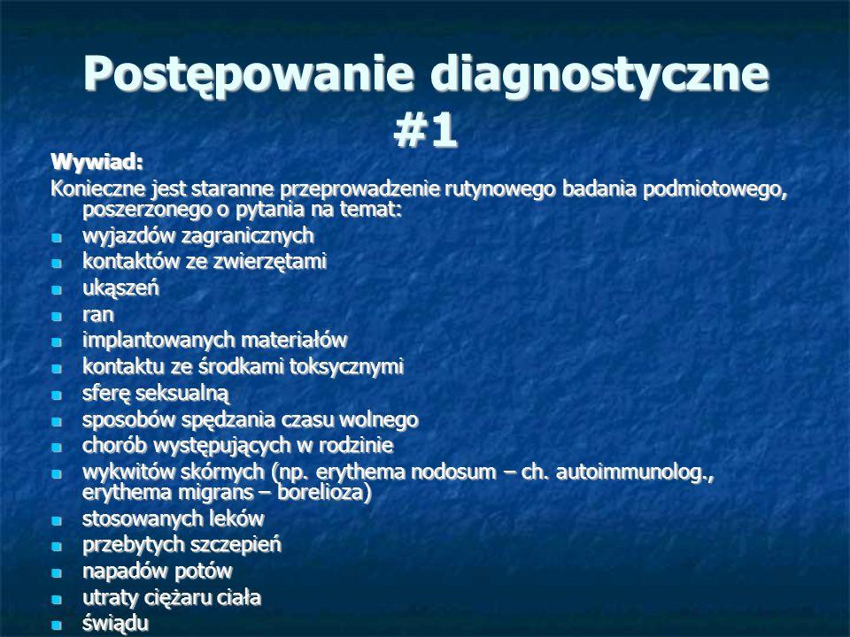 Postępowanie diagnostyczne #2 Badanie fizykalne: Badanie fizykalne: Powinno być gruntowne i regularnie powtarzane.