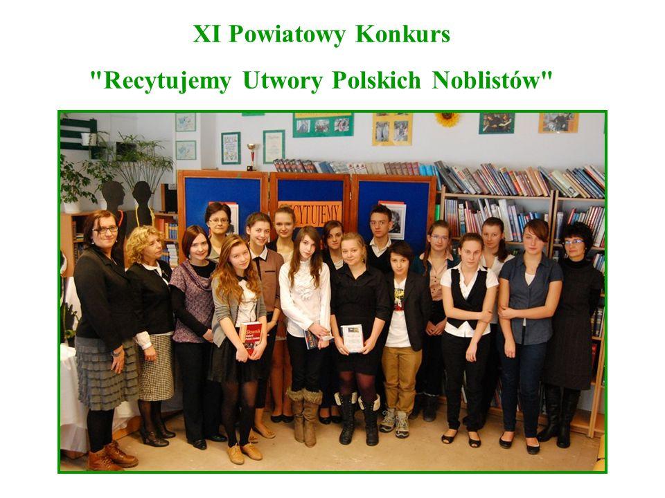 XI Powiatowy Konkurs Recytujemy Utwory Polskich Noblistów
