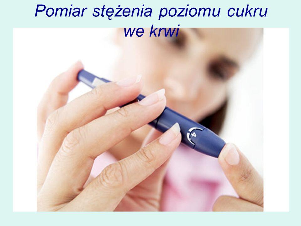 Pomiar stężenia poziomu cukru we krwi