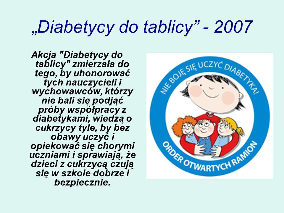 Diabetycy do tablicy - 2007 Akcja