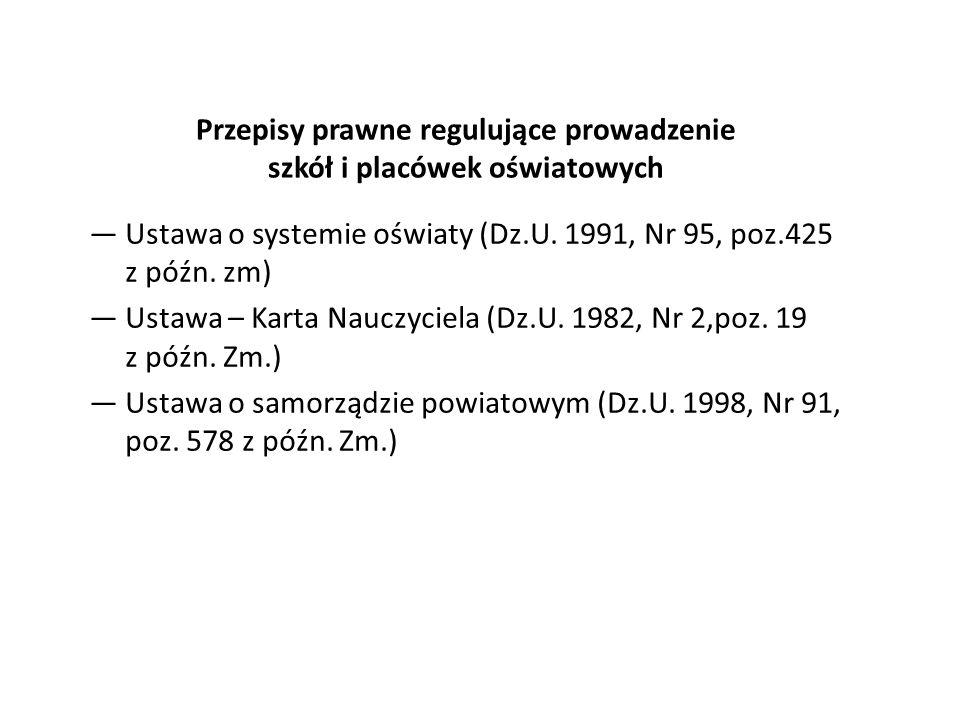 Liczba nauczycieli w szkołach i placówkach według stopni awansu zawodowego (stan na dzień 30.09.2011 r.) wg.