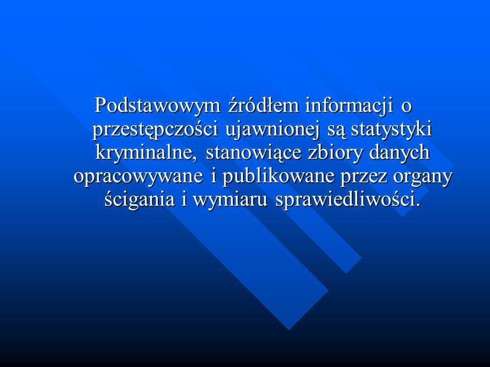 Podstawowym źródłem informacji o przestępczości ujawnionej są statystyki kryminalne, stanowiące zbiory danych opracowywane i publikowane przez organy