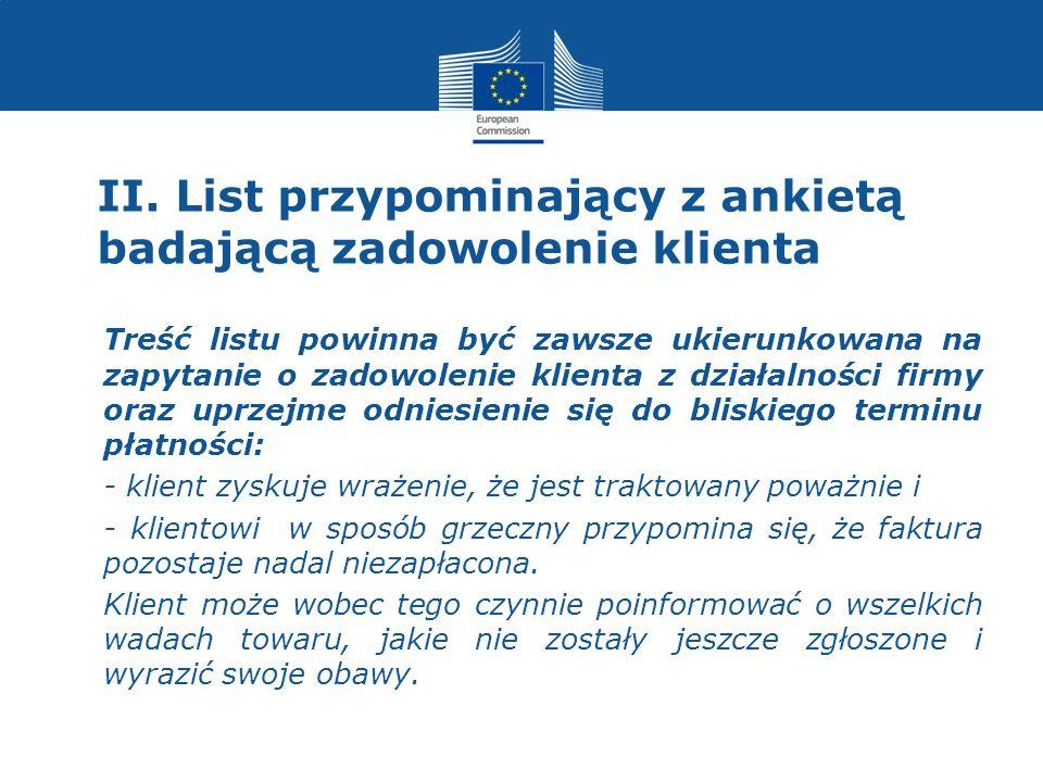 I.Zaangażowanie agencji windykacyjnej 3.