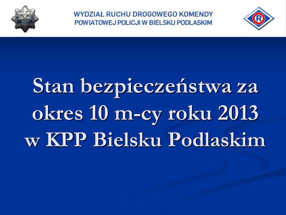 Stan bezpieczeństwa za okres 10 m-cy roku 2013 w KPP Bielsku Podlaskim