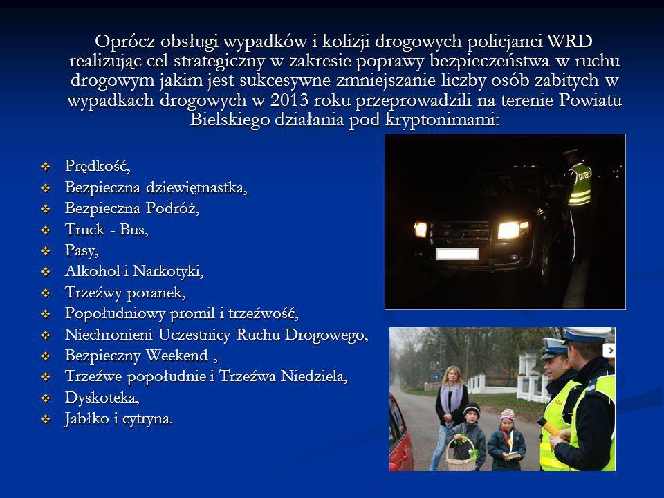 Oprócz obsługi wypadków i kolizji drogowych policjanci WRD realizując cel strategiczny w zakresie poprawy bezpieczeństwa w ruchu drogowym jakim jest s