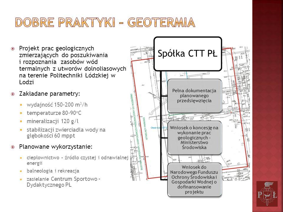 Projekt prac geologicznych zmierzających do poszukiwania i rozpoznania zasobów wód termalnych z utworów dolnoliasowych na terenie Politechniki Łódzkie