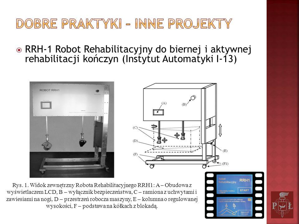 RRH-1 Robot Rehabilitacyjny do biernej i aktywnej rehabilitacji kończyn (Instytut Automatyki I-13) Rys. 1. Widok zewnętrzny Robota Rehabilitacyjnego R
