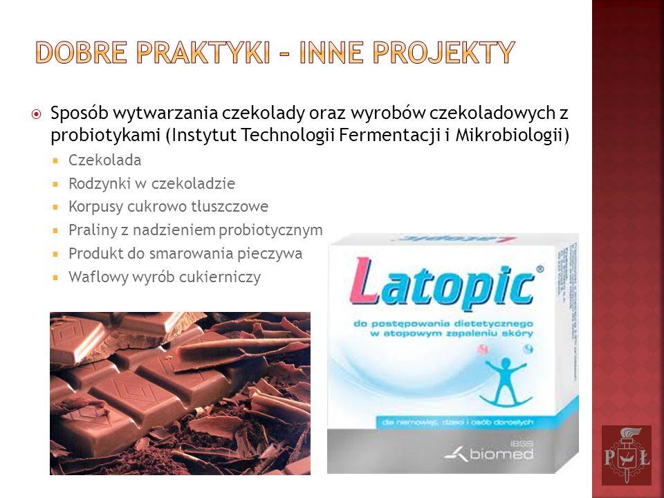 Sposób wytwarzania czekolady oraz wyrobów czekoladowych z probiotykami (Instytut Technologii Fermentacji i Mikrobiologii) Czekolada Rodzynki w czekola