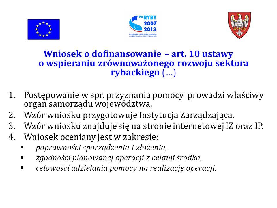 Wniosek o dofinansowanie – art.