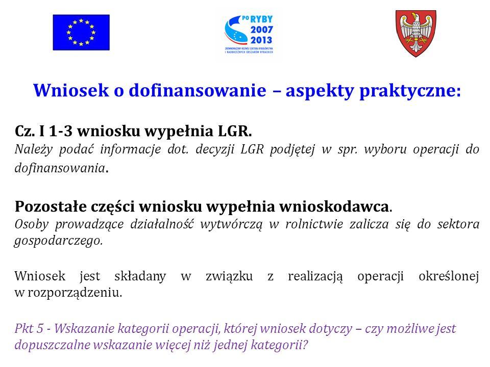 Wniosek o dofinansowanie: Cz.II wniosku dot. identyfikacji wnioskodawcy.