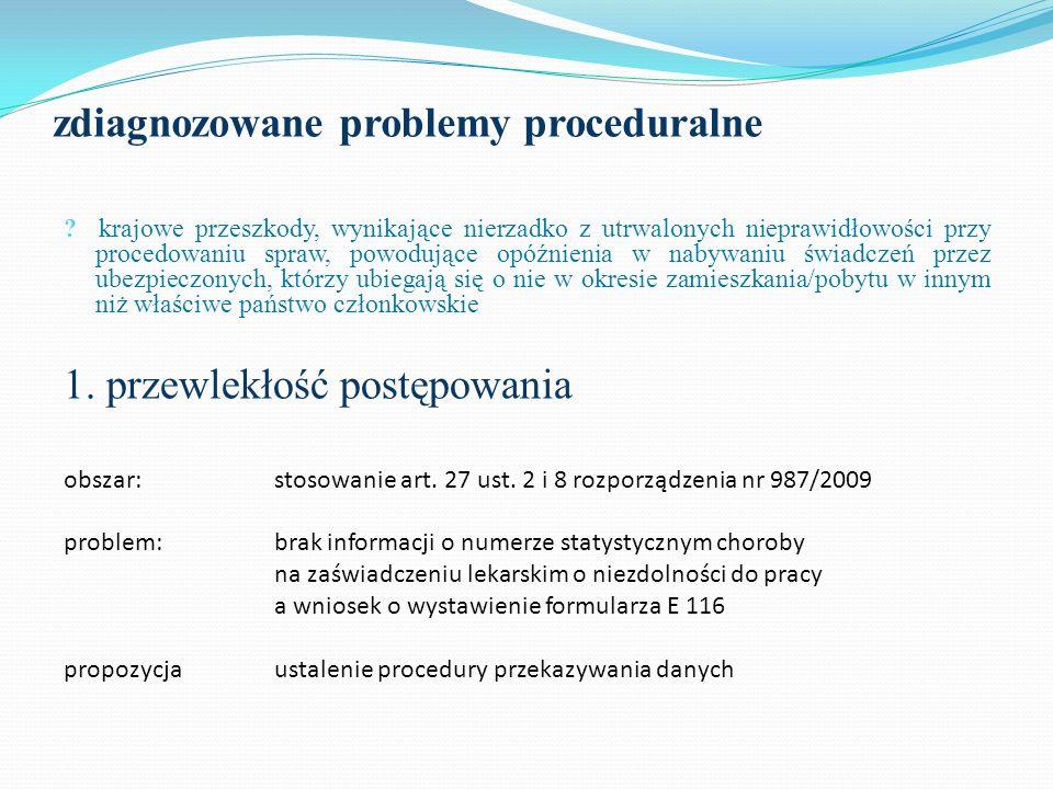 Wyniki : akcje informacyjne uczestnicy Projektu oraz inne państwa członkowskie zmniejszenie ilości odpłatnych kontroli lekarskich zmniejszenie ilości interwencji w sprawach nadmiernie przedłużającego się terminu zwrotu kosztów badań lekarskich skrócenie terminu rozpatrywania spraw skrócenie terminu oczekiwania przez osobę ubezpieczoną na decyzję w sprawie świadczeń ponowne zainicjowanie akcji wymiany informacji o krajowych wzorach zaświadczeń lekarskich i zasadach ich wystawiania