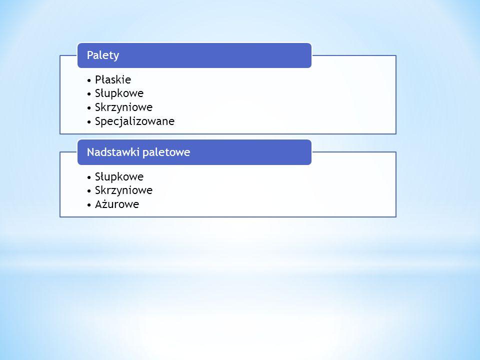 Płaskie Słupkowe Skrzyniowe Specjalizowane Palety Słupkowe Skrzyniowe Ażurowe Nadstawki paletowe