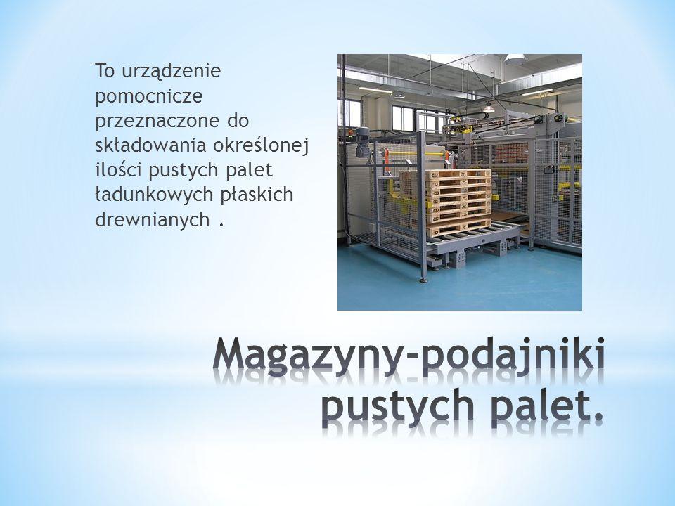 To urządzenie pomocnicze przeznaczone do składowania określonej ilości pustych palet ładunkowych płaskich drewnianych.