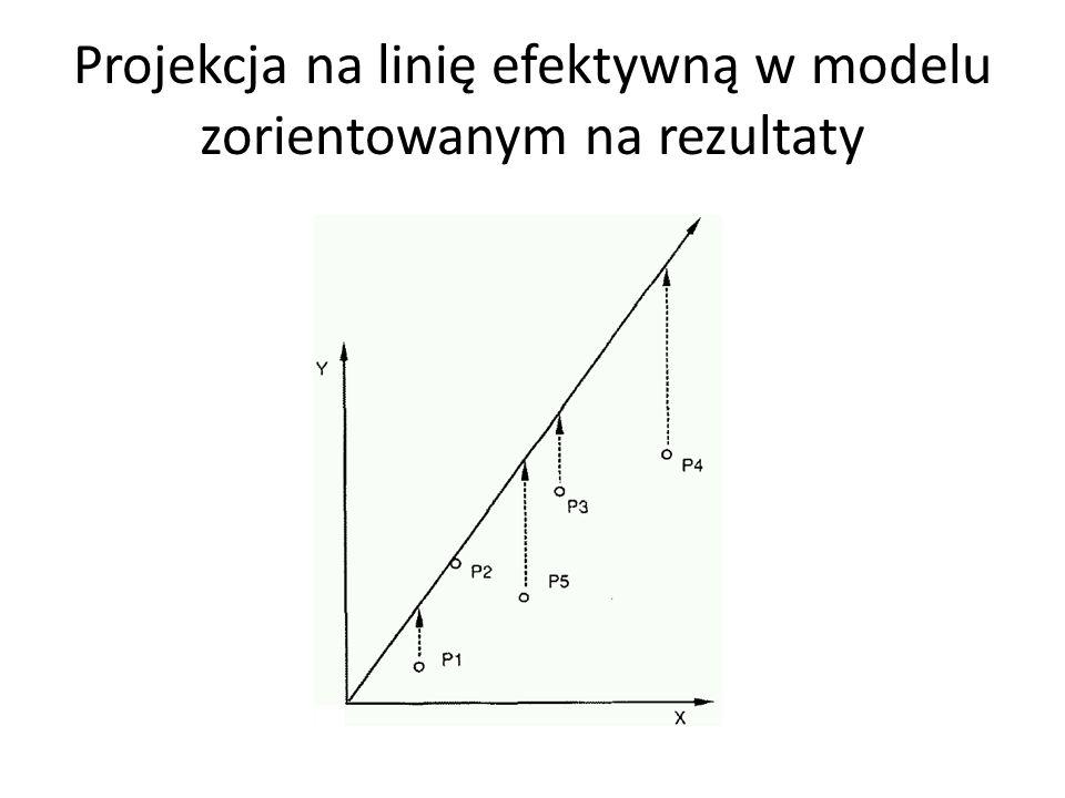 Projekcja na linię efektywną w modelu zorientowanym na rezultaty