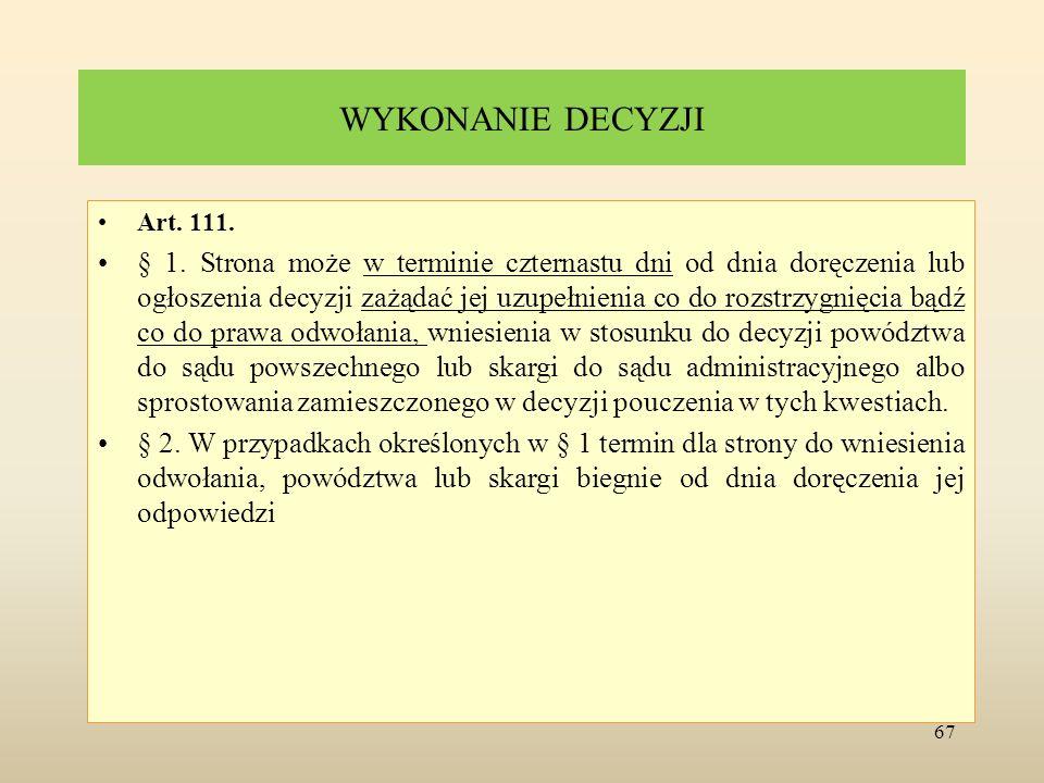Sprostowanie pomyłki Art.113. § 1.