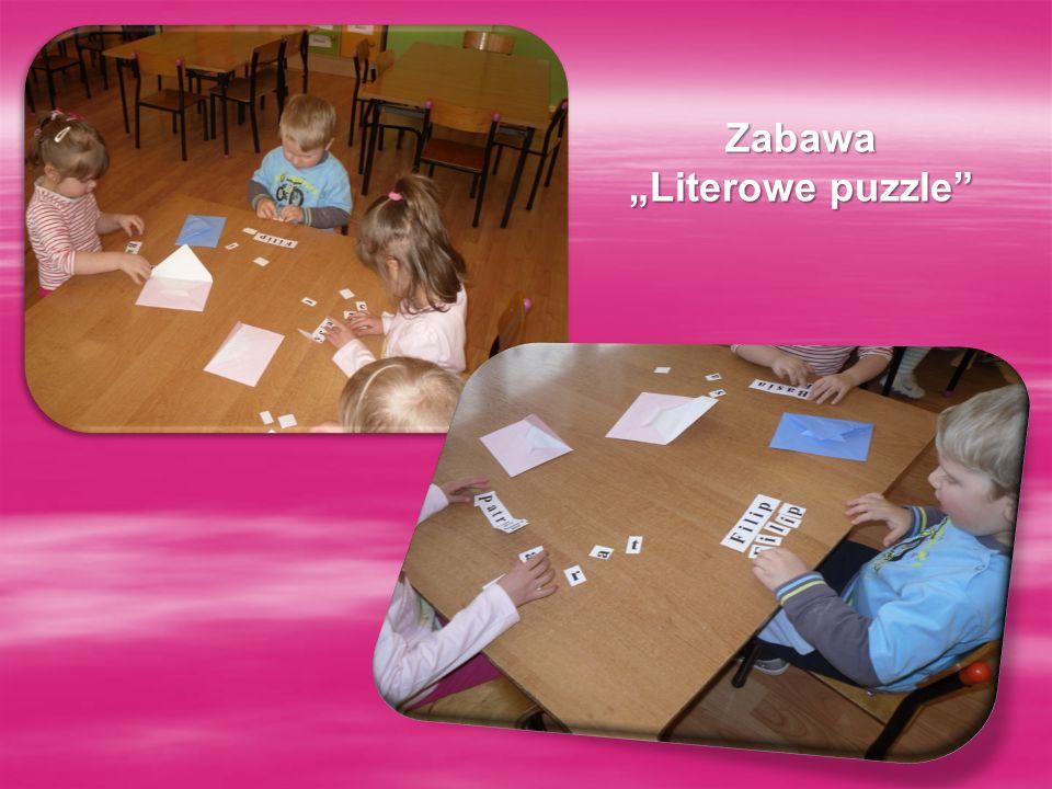 Zabawa Literowe puzzle