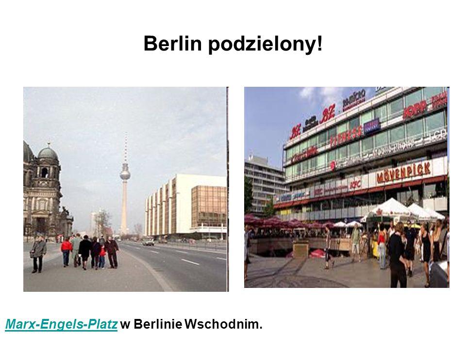 Berlin podzielony! Marx-Engels-PlatzMarx-Engels-Platz w Berlinie Wschodnim.