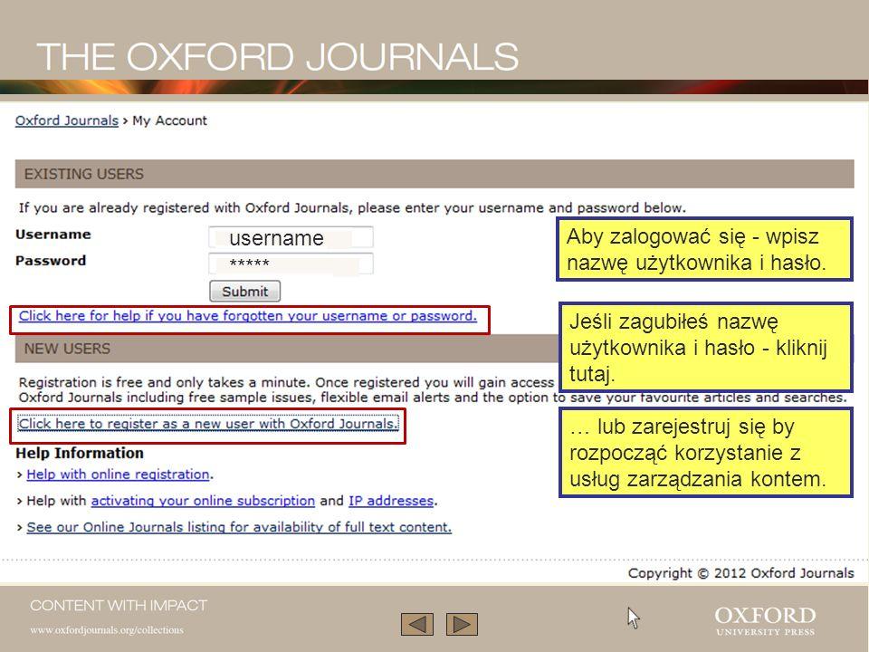 Podobne prezentacje na temat pozostałych zasobów internetowych Oxford University Press znajdziesz w Librarian Resource Centre www.oup.com/uk/academic/online/librarians