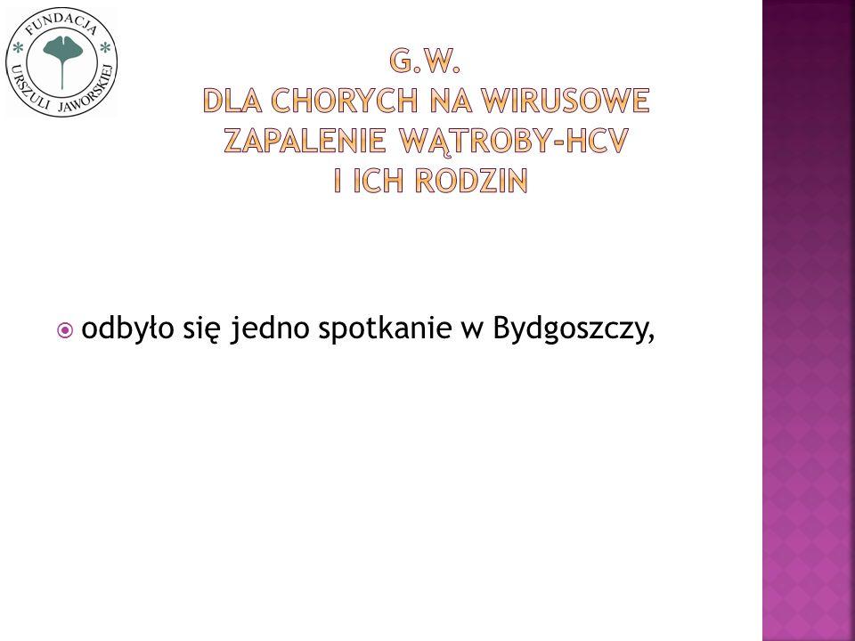 odbyło się jedno spotkanie w Bydgoszczy,