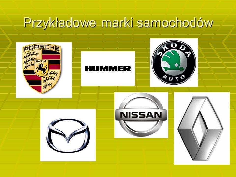 Ogólnie o samochodach Samochód - pojazd mechaniczny z własnym napędem (silnik) i źródłem energii, którym jest paliwo (gaz, ropa, benzyna, wodór), jak