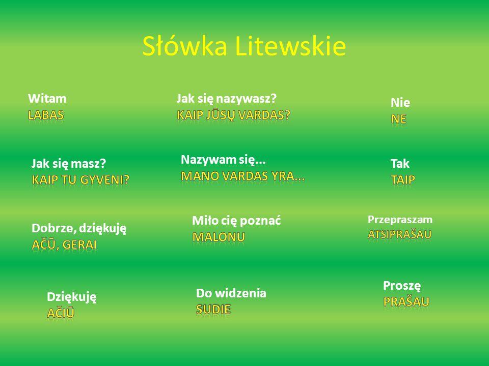 Słówka Litewskie