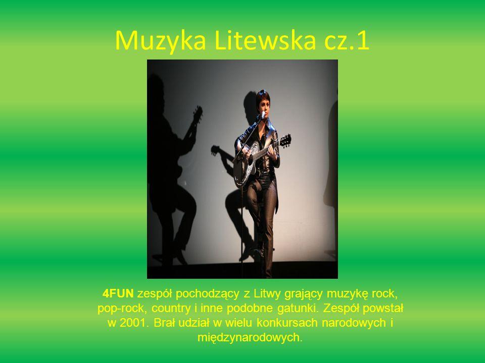 Muzyka Litewska cz.2 Jeronimas Milius litewski piosenkarz, reprezentant Litwy na Eurowizji 2008.