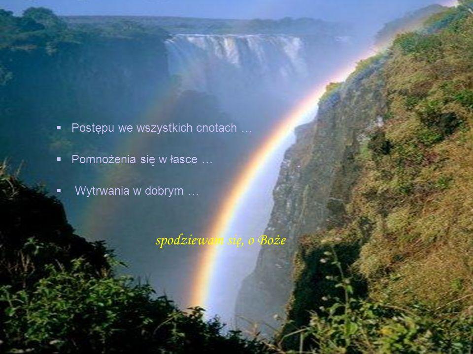 Zachowania mnie od nieszczęścia i niebezpieczeństwa … Pomocy w pokusach od grzechu … Stałej cierpliwości w utrapieniach i przeciwnościach … Odpuszczen