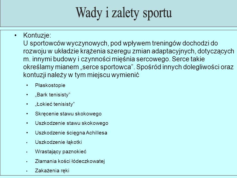Dużym problemem w sporcie jest doping wydajnościowym.