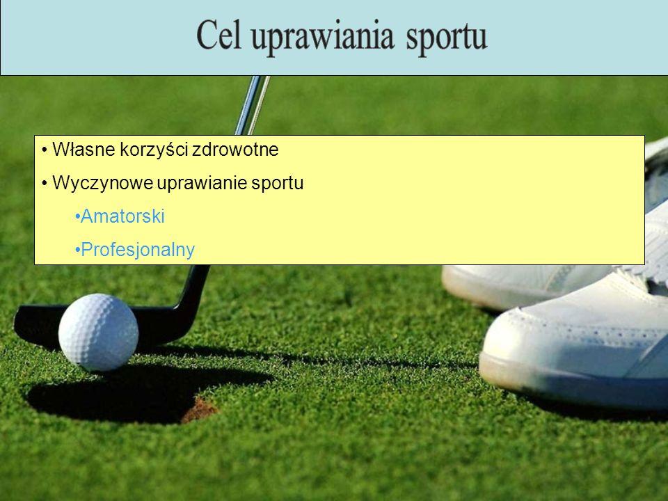 Własne korzyści zdrowotne Wyczynowe uprawianie sportu Amatorski Profesjonalny