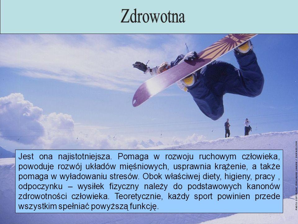 Sport, oprócz rozwoju fizycznego ma również duży wpływ na rozwój psychiczny danej osoby.
