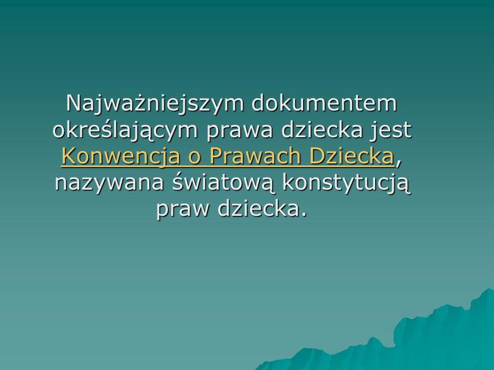 20 lat Konwencji o Prawach Dziecka 20 listopada 2009 roku mija dwadzieścia lat od uchwalenia Konwencji o Prawach Dziecka.