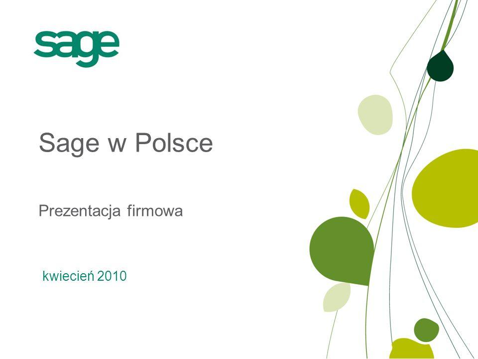 Prezentacja firmowa Sage w Polsce kwiecień 2010