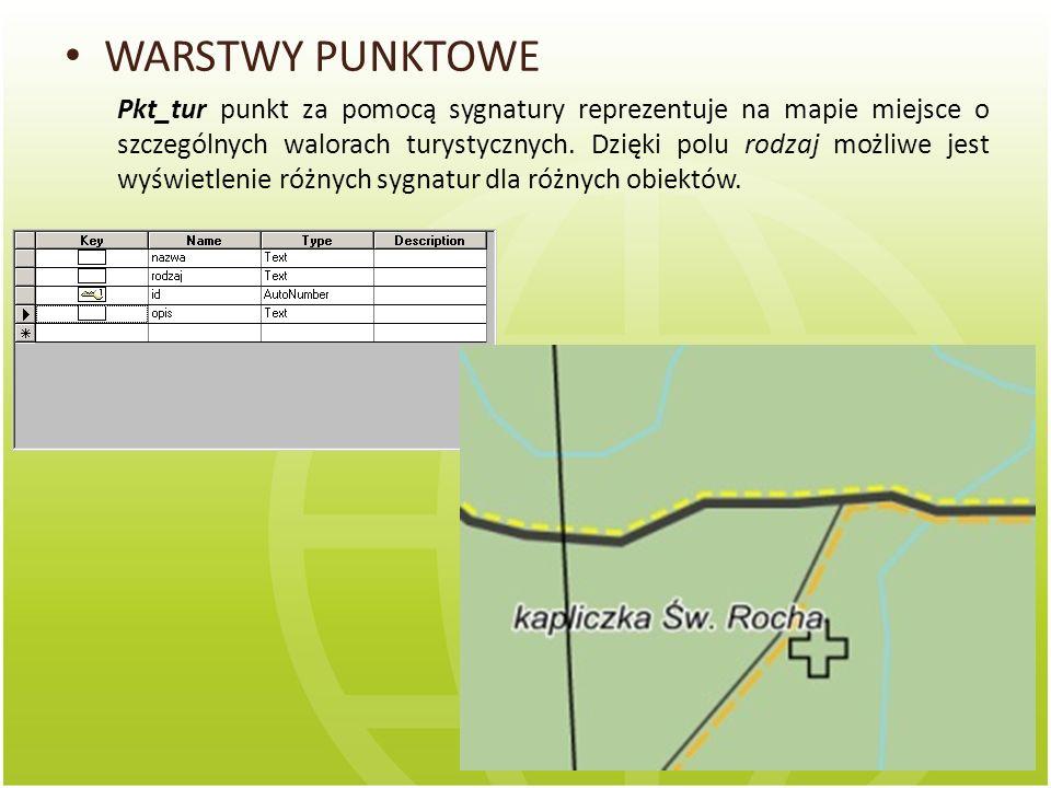 WARSTWY LINIOWE Lin_dro jest to warstwa, która symbolizuje różnego typu drogi.