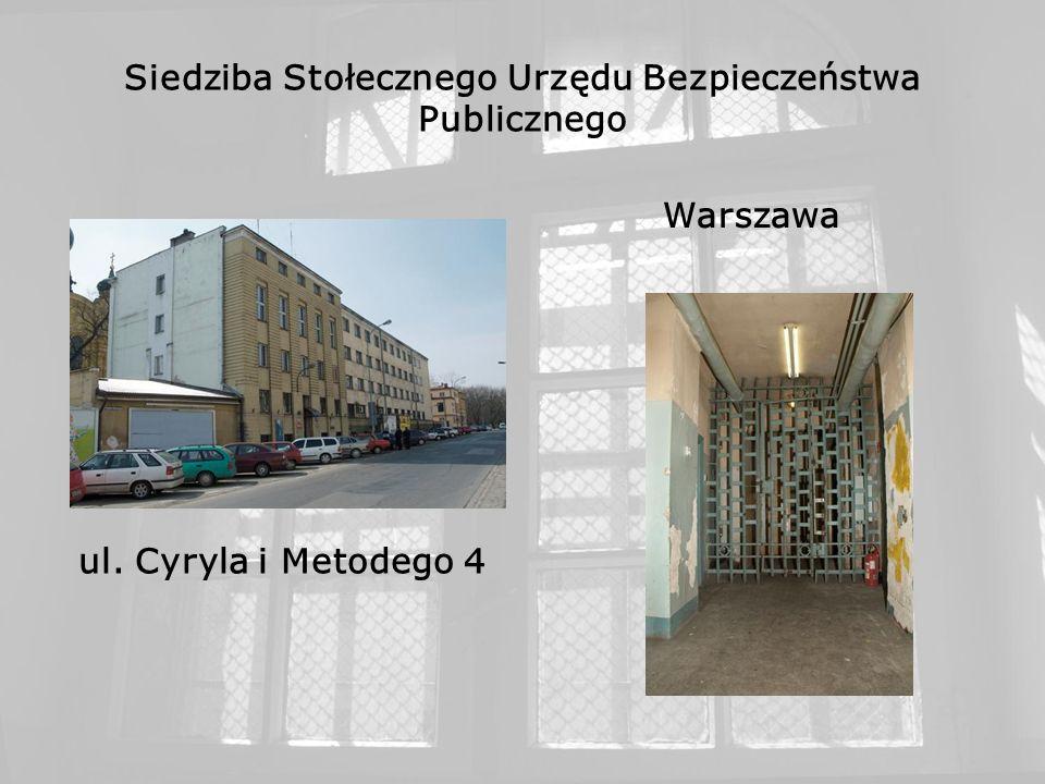 Siedziba Stołecznego Urzędu Bezpieczeństwa Publicznego Warszawa ul. Cyryla i Metodego 4