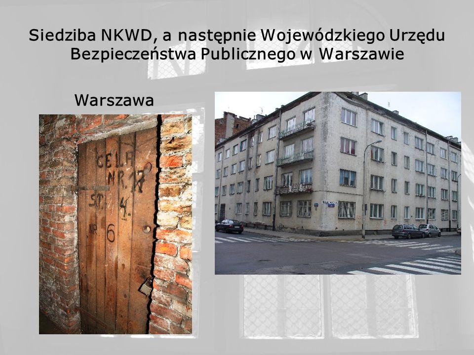 Dawny KL Warschau, potem obóz NKWD i Ministerstwa Bezpieczeństwa Publicznego, tzw. Gęsiówka