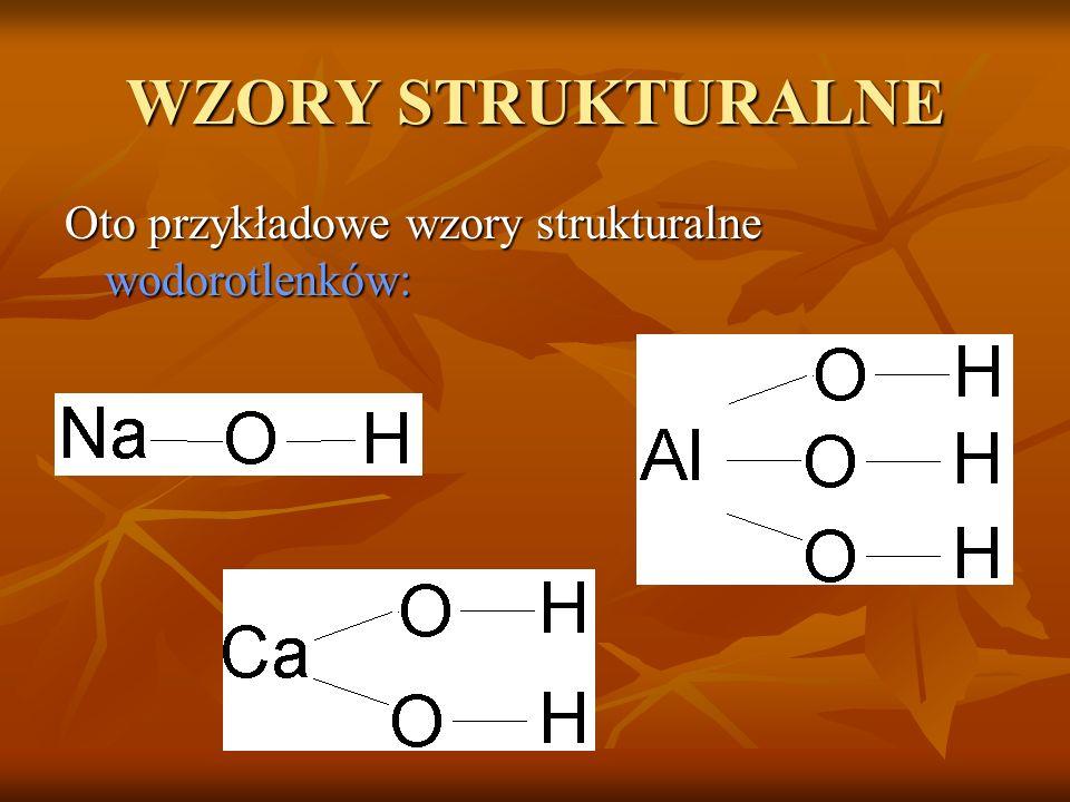 BUDOWA WODOROTLENKI zbudowane są z atomów metali i grup wodorotlenkowych –OH. Można im przypisać wzór ogólny: Me n (OH) n Me n (OH) n