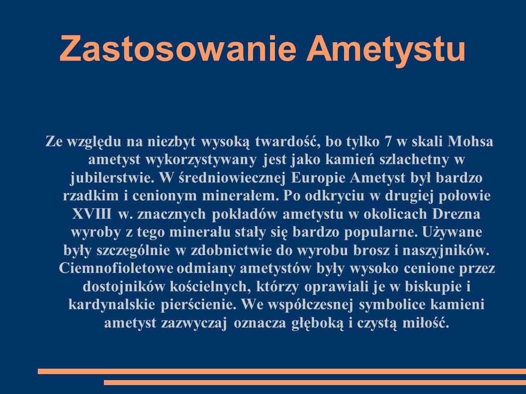 Zastosowanie Ametystu- jubilerstwo