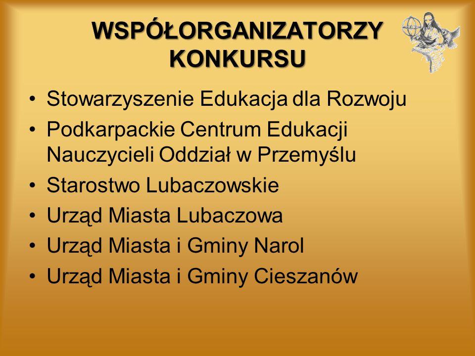 UDZIAŁ SZKÓŁ W wojewódzkim VI Konkursie Czytania ze Zrozumieniem Wiem, o czym czytam wzięły udział: *trzydzieści cztery szkoły podstawowe (uczniowie klas trzecich i piątych) *piętnaście gimnazjów (uczniowie klas drugich), przede wszystkim z powiatu lubaczowskiego, a także z powiatów jasielskiego, jarosławskiego, kolbuszowskiego, krośnieńskiego, łańcuckiego, przemyskiego i strzyżowskiego.