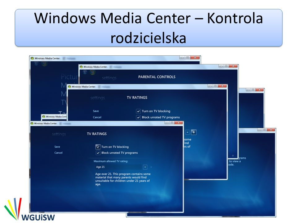 Windows Media Center – Kontrola rodzicielska