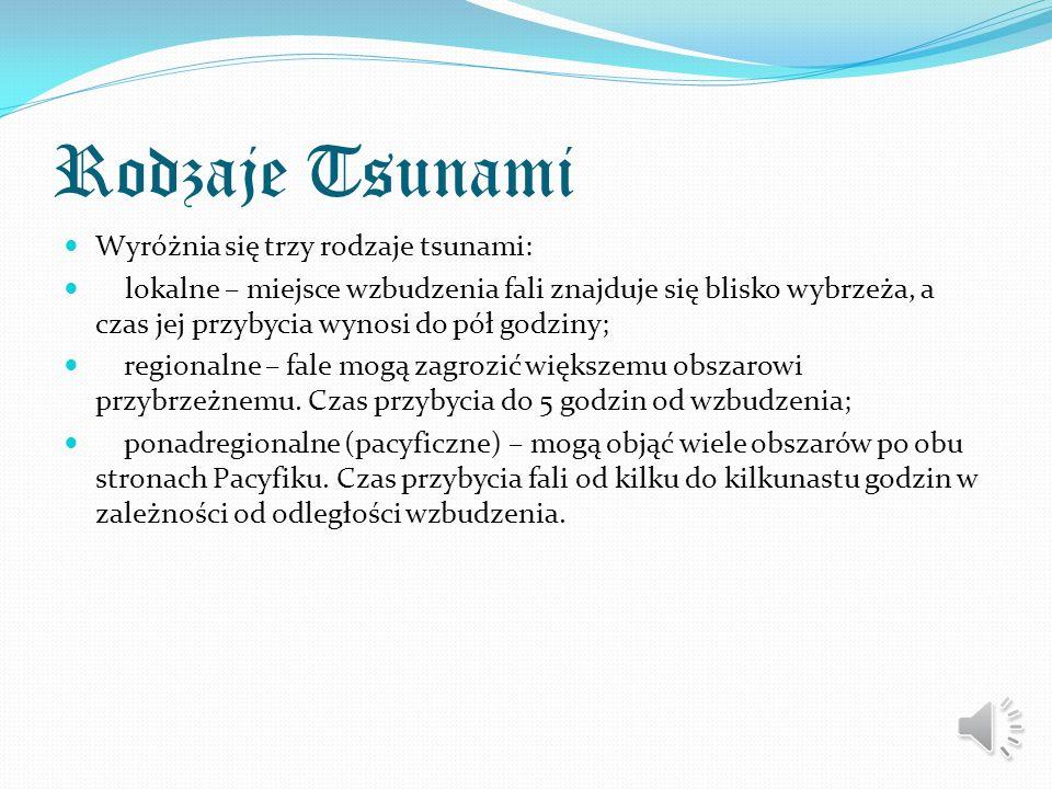 Tsunami fala oceaniczna, wywołana podwodnym trzęsieniem ziemi, wybuchem wulkanu bądź osuwiskiem ziemi (lub cieleniem się lodowców), rzadko w wyniku up