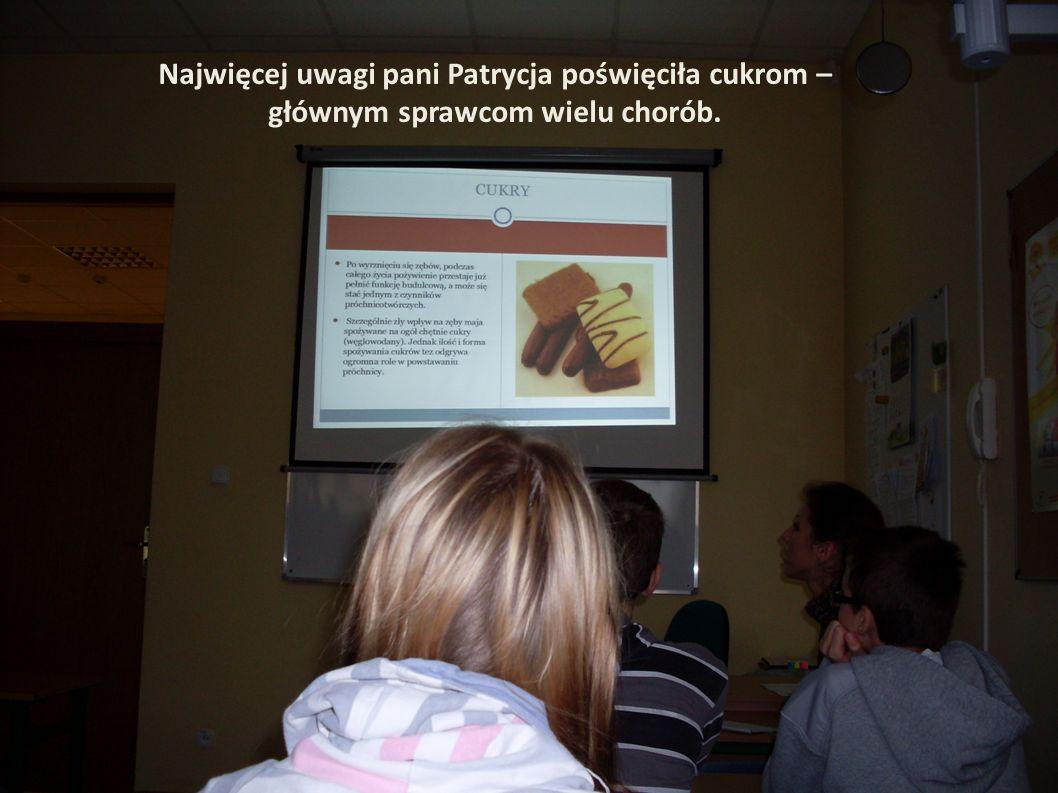 Najwięcej uwagi pani Patrycja poświęciła cukrom – głównym sprawcom wielu chorób.