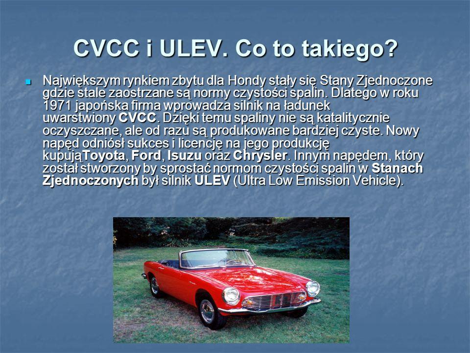 CVCC i ULEV. Co to takiego? Największym rynkiem zbytu dla Hondy stały się Stany Zjednoczone gdzie stale zaostrzane są normy czystości spalin. Dlatego