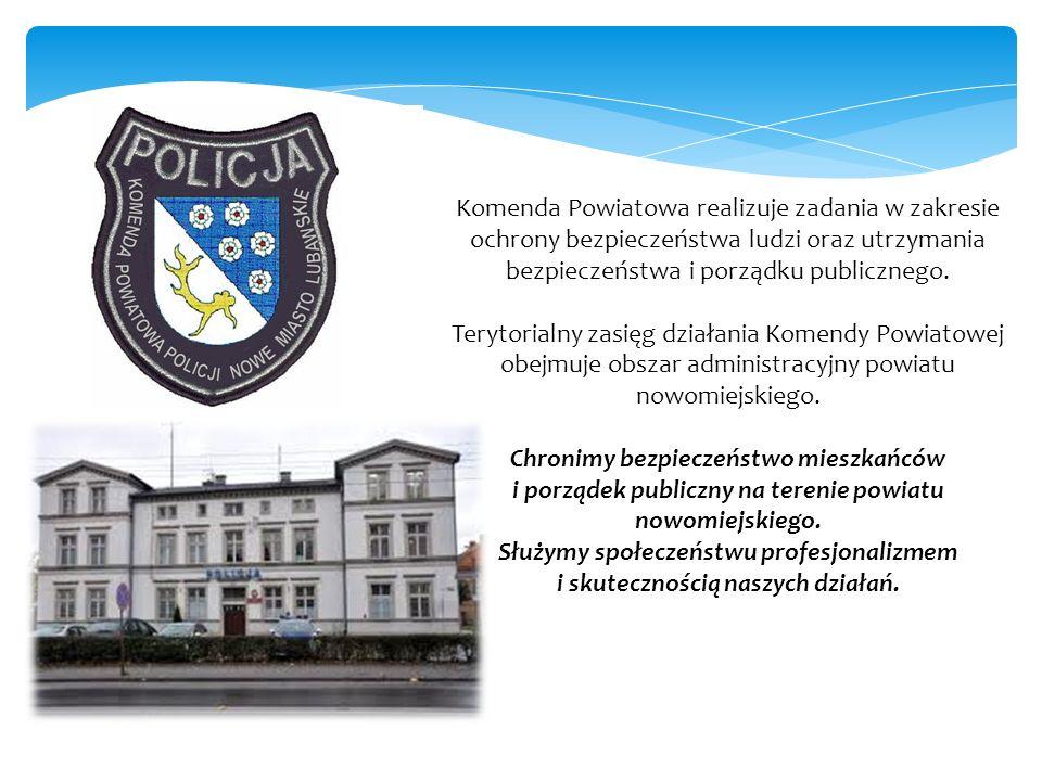 Komenda Powiatowa realizuje zadania w zakresie ochrony bezpieczeństwa ludzi oraz utrzymania bezpieczeństwa i porządku publicznego. Terytorialny zasięg