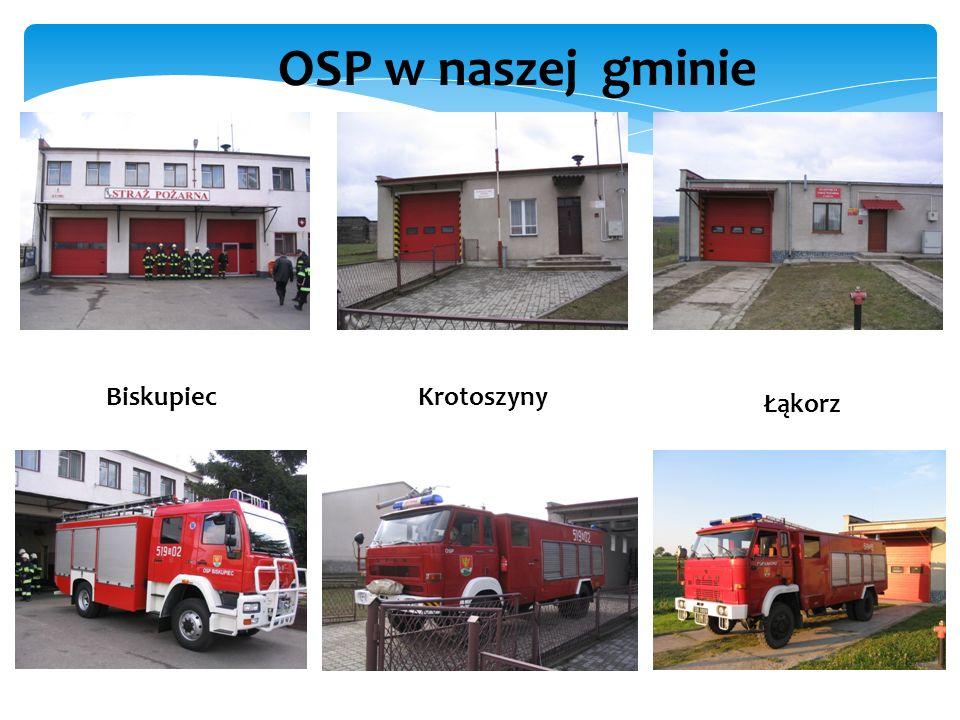 OSP w naszej gminie BiskupiecKrotoszyny Łąkorz