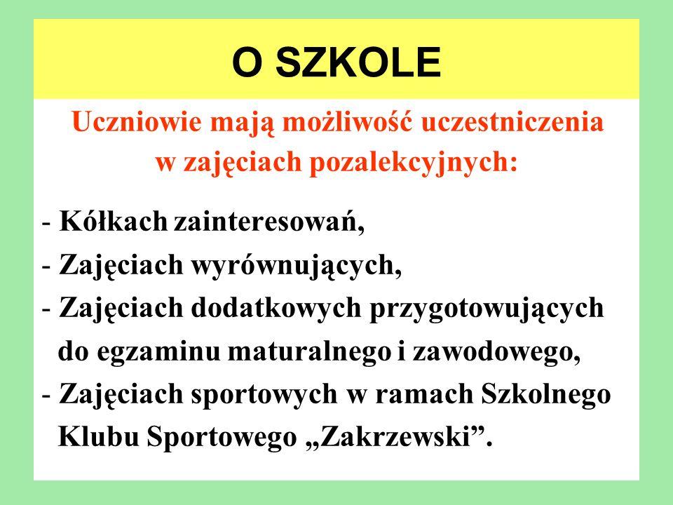 O SZKOLE Sukcesy: W 2012 roku nasza szkoła już po raz siódmy znalazła się w gronie najlepszych szkół w Polsce.
