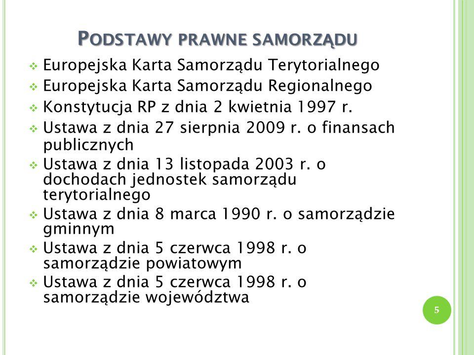 P ODSTAWOWE WIELKO Ś CI BUD Ż ETU PA Ń STWA W 2011 R.