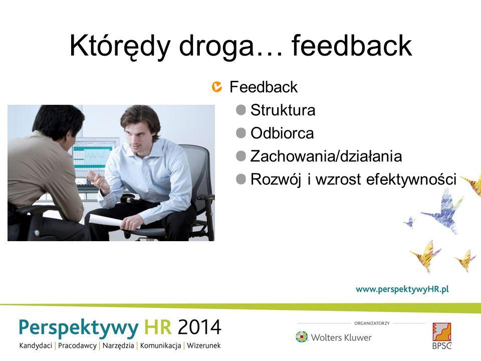 Którędy droga… feedback 7 Feedback Struktura Odbiorca Zachowania/działania Rozwój i wzrost efektywności