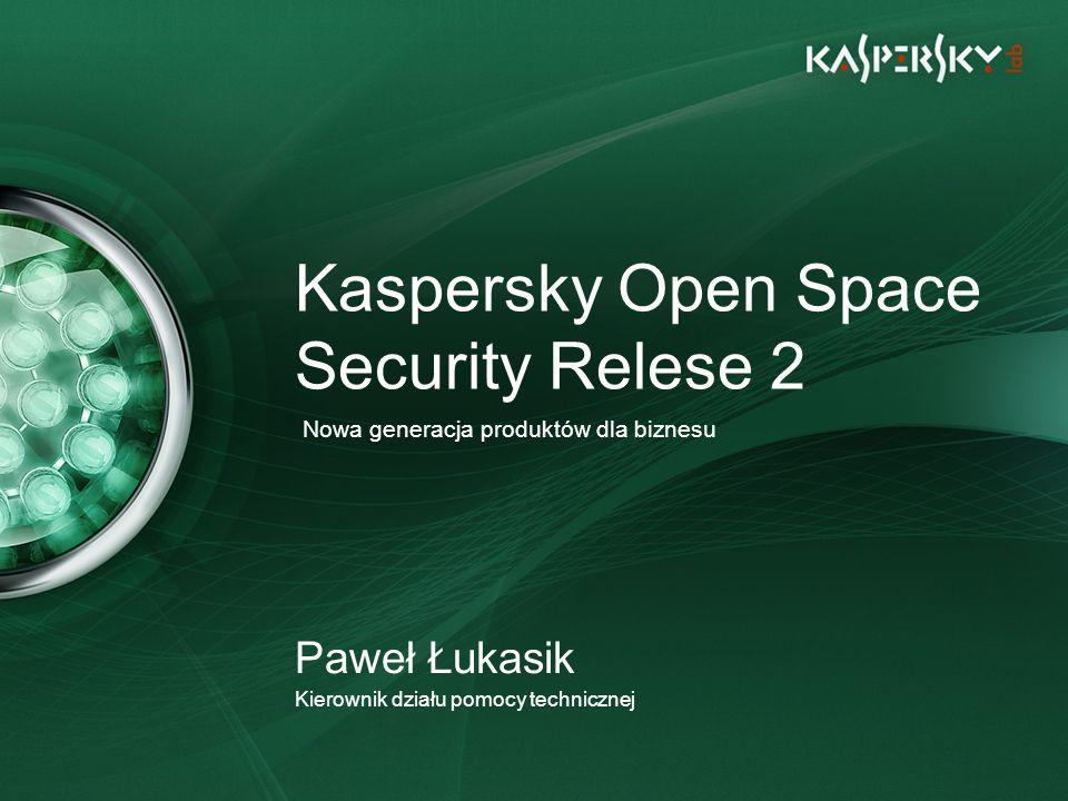 Główne funkcje i korzyści Inteligentna konsola zarządzająca (Kaspersky Administration Kit 8.0) – nowe podejście zorientowane na cele i akcje Nowy silnik AV w aplikacjach R2 – udoskonalona ochrona przed współczesnymi zagrożeniami, zwiększona wydajność Efektywne, wygodne, szybkie Łatwe do uruchomienia i łatwe do zarządzania Oszczędzają czas i zwiększają produktywność